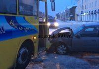 Пассажирка автобуса пострадала в ДТП