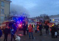 В Ангарске горит торговый центр «Центр». Обновлено