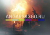 Очередной пожар в садоводстве Ангарска