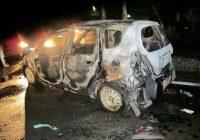 В Ангарске ночью сгорела «Хонда»