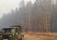 Село Барлук спасли от лесного пожара