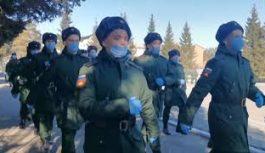 В части национальной гвардии Иркутской области прибыли первые новобранцы